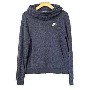 Nike | Black Speckle Confetti Cowl Neck Sweatshirt